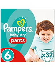 Pampers - Baby Dry Pants - Couches-culottes Taille 6 (16+ kg) - Pack Géant (x32 culottes)