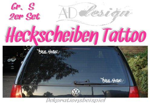 "Preisvergleich Produktbild Autoaufkleber Schriftzug ""BÖSES MÄDCHEN"" Gr. S - 2x 25cm x 6cm"