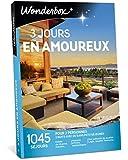 Wonderbox – Coffret cadeau couple 3 JOURS EN AMOUREUX – 1045 séjours en hôtels de charme, moulins, yourtes, roulottes, maisons d'hôtes authentiques pour 2 personnes