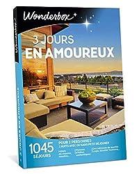 Envie d'une escapade en amoureux ? Ce coffret Wonderbox est le cadeau idéal pour partager 3 jours de rêves, rien qu'à deux ! Avec ses 1045 séjours en France et en Europe, cette box est le cadeau idéal à offrir à tous les couples d'amoureux. Spécialem...