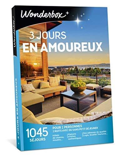 Wonderbox – Coffret cadeau couple 3 JOURS EN AMOUREUX –...