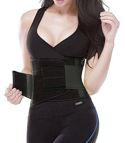 YIANNA Damen Taillentrainer Gürtel - Körperformer Gürtel für eine Sanduhrfigur Taillenmieder, UK-YA8002-Black-L