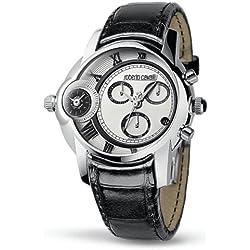 Roberto Cavalli 'Character' R7271649015 - Reloj de caballero de cuarzo, correa de piel color negro