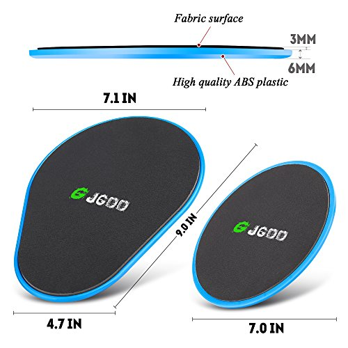 JGOO-Gliding-Discs-Core-Sliders-Fitness-Set-of-4-Sliding-Discs-Dual-Sided-Use-on-Any-Surface-for-CrossFit-Gym-Travel-or-Home-Workouts-Upper-Body-Glutes-Abdominal-Exercise-Full-Body-Workout-Blue