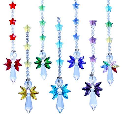 ll Suncatcher Glas Schutz Engel Regenbogen Hersteller Collection Suncather, Set Von 7, Haus Garten Dekorativ Haengen ()