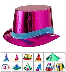 WIDMANN Sombrero metalizado Lusso (12modelos Unisex-Adult, multicolor, talla única, vd-wdm4541b