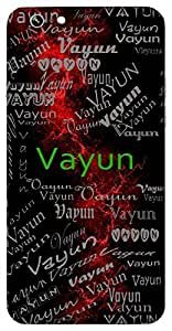 Vayun (Lively) Name & Sign Printed All over customize & Personalized!! Protective back cover for your Smart Phone : Samsung Galaxy J1 ( J100F, J100FN )