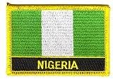 Flaggen Aufnäher Patch Nigeria Schrift Fahne NEU