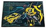 Undercover TFUV3100 - Schreibtischunterlage aus Kunststoff mit Seitenlasche, Transformers mit Bumblebee Motiv, ca. 59 x 39 cm