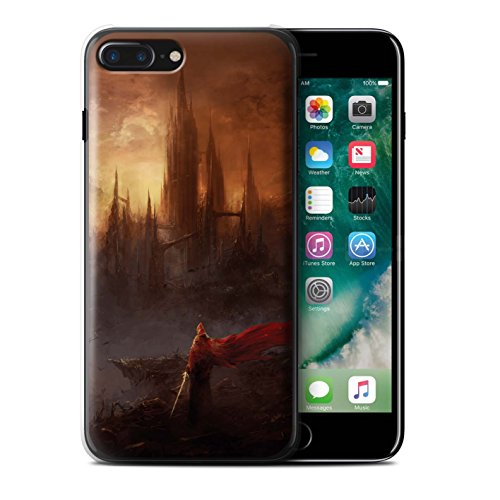 Offiziell Chris Cold Hülle / Case für Apple iPhone 7 Plus / Dragonfel Tempel Muster / Gefallene Erde Kollektion Shadowgate Schloss