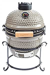 BergHOFF céramique pour barbecue Kamado Barbecue-Gris (Import Allemagne)