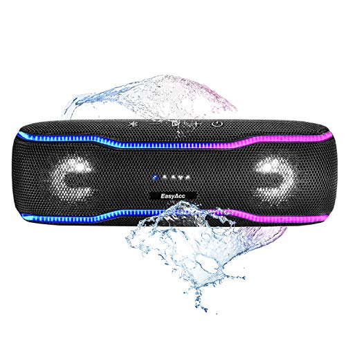 Bluetooth Altoparlante portatile, EasyAcc IPX7 Impermeabile Altoparlante Wireless Portatile con doppio suono stereo da 10 W, Bassi Avanzati, chiamata microfono a mani libere, Tap Booster