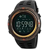 Skmei Smart Watch Silicone Band For Android & iOS,Gold - 1250