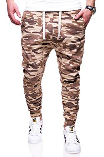 MT Styles Jogg-Jeans Camouflage Hose RJ-3226 Beige