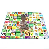PETRICE Baby Double Sided Waterproof Play And Crawl Mat With Bag ( 150 * 180 cm )