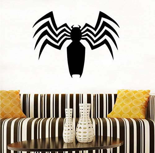 Pbbzl Venom Silhouette Logo Wandtattoo Venom Vinyl Aufkleber Superheld Wandtattoos Home Kunst Dekor Teen Zimmer Wandkunst Dekor Comics ()