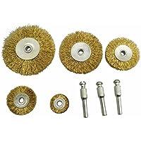 hiyi 8pcs Alambre rueda cepillos peciolo alambre óxido moler pulido accesorios para herramientas rotativas eléctrico herramientas abrasivos