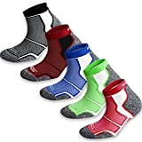 5 Pack More Mile New York Cushioned Coolmax Sports Running Socks (Multi-coloured, 8.5-10.5 UK / 42-45 EU)