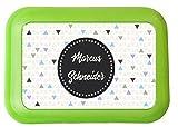wolga-kreativ Brotdose Lunchbox mit Name Wunschname mit Trennsteg viele Motive