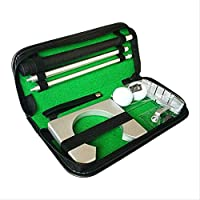 Classic Mini Golf Tranning Aids Indoor Golf Ball Holder Golf Putter Putting Practice Kit Golfer Training Set Aids With Case