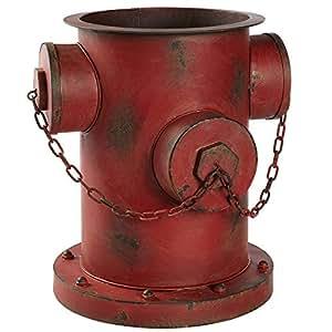 Blumentopf Übertopf Hydrant Shabby Chic Rostoptik Eisen ca. 35 x 32 x 36cm rot