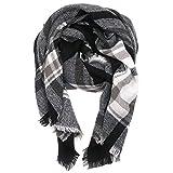 Canvalite XXL Schal, Klassisch Karo Damen Herbst Winter Schal warm, weich, mehrfarbig