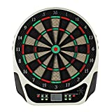 Topwill Elektrisches Dartboard, Dartscheibe Elektronisch E Dartboards Dartautomat mit LED-Anzeige, Inklusive 6 Dartpfeile, 18 Spielen und 159 Varianten für 8 Spieler