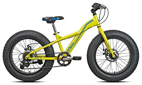 Torpado - Bicicleta infantil Fat Bike Pit Bull elaborada en acero con ruedas de 20' y cambio de 6 marchas, color amarillo