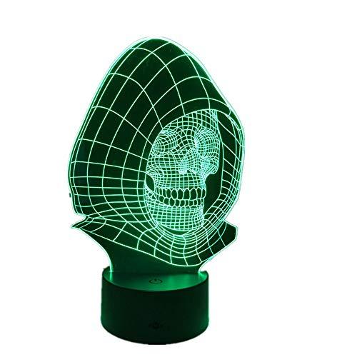 Wangzj 3d nachtlicht touch control für kinder / 7 farbwechsel led schreibtisch tisch dekor lampe/kinder schlafzimmer geschenke/künstlerische schädel