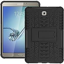 """Fundas para Samsung Tab S2 8"""", KATUMO® Carcasa Dura Gel para Tablet Samsung Galaxy Tab S2 8.0 pulgadas T710/715 Funda Caja Cubierta Cover(Funcion de Soporte)-Negro"""