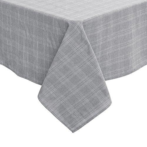 Wasserabweisend Tischwäsche Tischtücher 137x274 cm Karo Hellgrau ()
