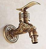 Decorry Messing Antik Bronze Bibcock, Kalter Hahn, Waschmaschine Wasserhahn, Toilette Bibcock, Kupfer Bibcock, Hahn, Gartenwasserhahn