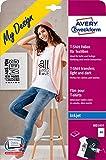 AVERY Zweckform MD1005 5 Textilfolien (für farbige und helle Textilien, DIN A4, bedruckbare T-Shirt Folie zum Aufbügeln, Transferfolie für Inkjet-/Tintenstrahldrucker, Bügelfolie)