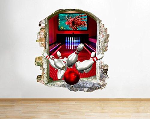 Bowling Sport FUN Ball Cool Living Fenster Wand Aufkleber 3D Kunst Aufkleber Vinyl Raum