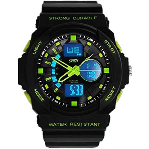 SKMEI GD12 - Reloj de pulsera hombre, resina, color verde