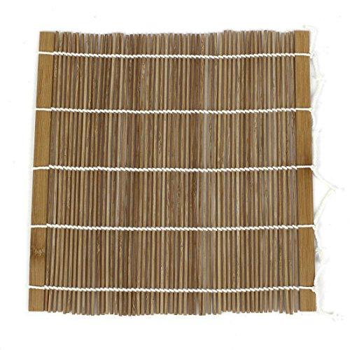 Sushi tappetino rullo - sodial(r) casa rotolamento stuoia di bambu' sushi rullo mano maker bento cachi