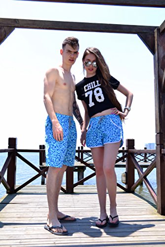 Ysting Damen / Herren Schnell Trocken Schwimmen Shorts Schwimmen Strand Urlaub Trunks Shorts Herren-Fünf Cent Hosen