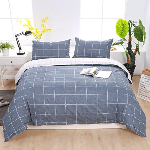 Baumwolle Queen-size Bettbezug (Bettwäsche Set Feinbiber Bettbezüge 100% Bio Baumwolle Maco.Satin Microfaser Bettbezug Bettlacken Betttüche (Bettbezüge, 200x200 cm))