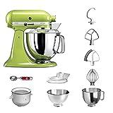 KitchenAid Küchenmaschine | VORTEILS SET | Artisan 5KSM175PS Eiscreme Paket | inklusive Speiseeismaschine und Eisportionierer für hausgemachte Dessert-Kreationen (Apfelgrün)