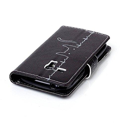 Custodia Apple iphone 5C Book Style design portafoglio Wallet CASO,Pelle PU Flip protettivo Pocket Case Cover per iphone 5C(retr¨° fiore) Kitty linea