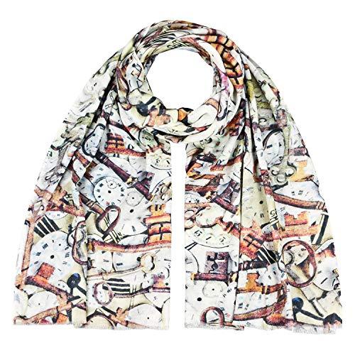 Japanwelt Baumwoll Modaltuch 65% Baumwolle 35% Modal XXL Halstuch Frühling herbst und Winter Schal Tuch 70 x 180 cm Schlüssel - Herbst Futon