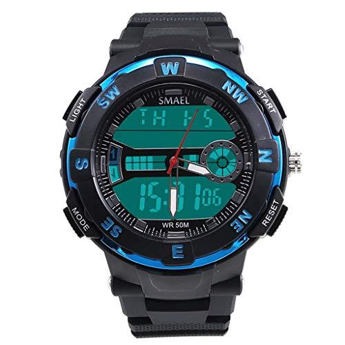 UINGKID Herren Uhr analog Quarz Armbanduhr wasserdicht Uhren Mode lässig einfach digital Zeiger Zifferblatt Sportuhr