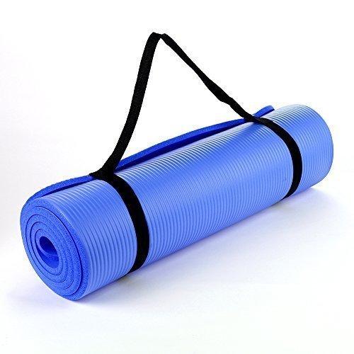 Thick Cushioned Pilates and Yoga Mat 182cm x 60cm x 16mm (Dark Blue)