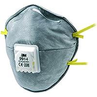3M 9322+ C2Aura Masque, niveau de protection FFP2, idéal pour porteur de lunettes, Lot de 2
