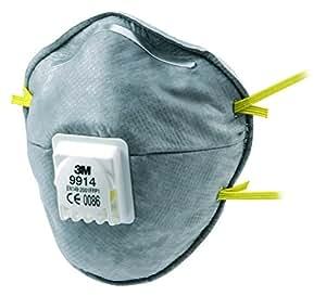 3M 9914SV Lot de 2 Masques respiratoires format coque anti-odeur avec soupape