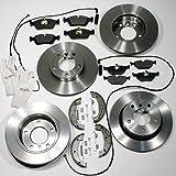 Autoparts-Online Set 60007122 Bremsscheiben/Bremsen + Bremsbeläge + Warnkabel + Handbremse + Zubehör für Vorne + Hinten