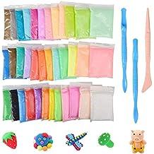 KidsHobby 36 Colores Slime Kit - DIY Arcilla Colorida de Caucho de Barro Magia Plastilina -