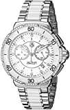 TAG Heuer Womens Analog-Digital Quartz Watch with Stainless Steel Plated Strap CAH1213.BA0863