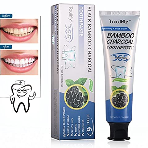 Le charbon de bambou Poudre de charbon naturel pour le blanchiment des dents en ,combattre la carie mauvaise haleine, les taches de dents. Pour des dents saines et une haleine fraîche