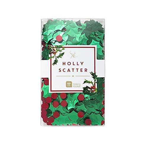 nd grün Konfetti mit Mäusedorn, perfekt für Weihnachten ()
